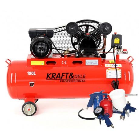 Kompresor Olejowy 100L 230V KD402 + Zestaw