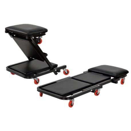 Leżak warsztatowy, siedzisko składane KD378