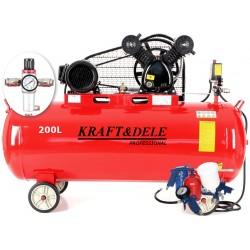 Kompresor olejowy 200L 2 tłoki KD1473 +Separator! zestaw
