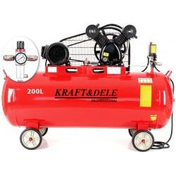 Kompresor olejowy 200L 2 tłoki KD1473 +Separator!