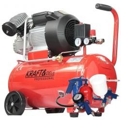 Kompresor olejowy 50L 2 tłoki KD1478 + Zestaw