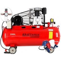 Kompresor olejowy 200L 400V KD1475 +Separator! Zestaw