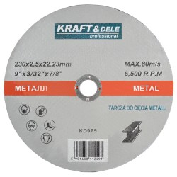 Tarcza do metalu 230x2,5x22,23mm KD975