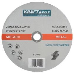 Tarcza do metalu 230x2,5x22,23mm KD975