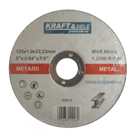 Tarcza do metalu 125x1,0x22,23 KD972