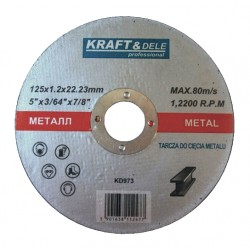 Tarcza do metalu 125x1,2x22,23mm KD973