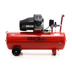 Kompresor olejowy 100L 2 Tłoki KD1480 + Separator