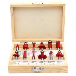 Zestaw Frezów do drewna KD10282 12szt. frez 8mm