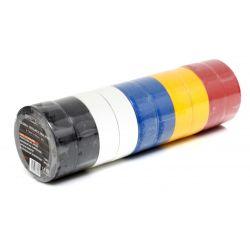 Taśma izolacyjna PVC 10szt. mix kolorów KD10915