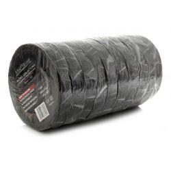 Taśma izolacyjna z włókniny poliesterowej 10szt. czarna KD10917